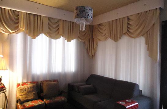 Cortinas com band charme e eleg ncia para o ambiente - Bandos para cortinas ...