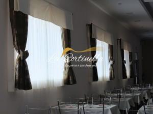 Cortinas e toalhas para restaurante