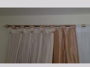 Detalhe de acessórios cortina